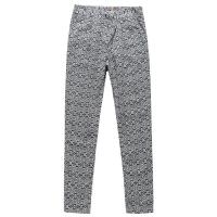Grey Long Leg Ladies Casual Pants Cotton Linen Type European Style Manufactures