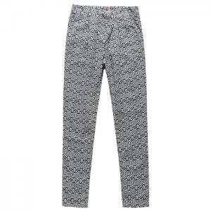 Grey Long Leg Ladies Casual Pants Cotton Linen Type European Style Manufactures