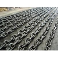 Professional Black Painted Boat Anchor Chain U3 Grade 27.5M / Length Manufactures