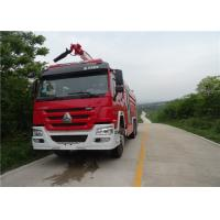 Dimension 10970×2480×3900mm Fire Pumper Truck , Pump Flow 100L/S Fire Fighting Vehicles Manufactures