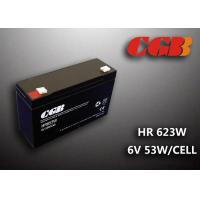 Maintenance Free Valve Regulated Lead Acid Battery 6v 13AH , HR653W Power Supply Battery Manufactures