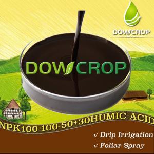 DOWCROP HOT SALE HIGH QUALITY WS@HUMIC ACID NPK PLUS TE LIQUID 100-100-50+30HA 100% WATER SOLUBLE ORGANIC FERTILIZER Manufactures