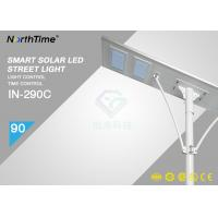 High Power 90 Watt Solar Powered Road Lights with 64Ah battery / APP Control Manufactures
