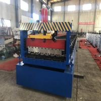 High Effective Construction Metal Floor Deck Roll Forming Machine For 1.5mm Manufactures