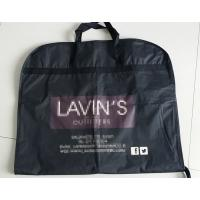 Zippered Garment Bags With Pockets / Cloth Garment Bags , Fold Up Garment Bag Manufactures