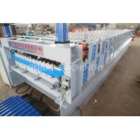 European Style Roof Panel Roll Forming Machine , Partial Arc Color Steel Roof Tile Downpipe Glazed Tile Manufactures