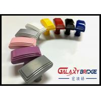Square Cabinet ABS Plastic Handle , Colorful Plastic Door Knobs Black Dresser Knobs Manufactures