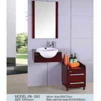 Cheap small size PVC/MDF/solid wood hanging/floating/wall-mounted bathroom vanity/bathroom cabinet Manufactures