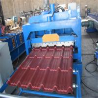 Customized Color Glaze Tile Metal Roof Roll Forming Machine PLC Control