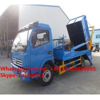 Factory sale dongfeng 4*2 LHD 5m3 hydraulic hookling arm garbage truck, HOT SALE! dongfeng skid bon wastes vehicle Manufactures