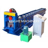 Seamless Rain Gutter Cold Roll Forming Machines , Automatic Metal Roofing Machine Manufactures