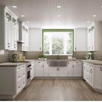 Paint Door Finish Solid Wood Kitchen Cabinets Solid Wood Material Blum / Dtc Hardware Manufactures
