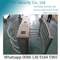 Quality Entrance Security Barrier Turnstile Gate With Card Reader , Visitors Access Control for sale