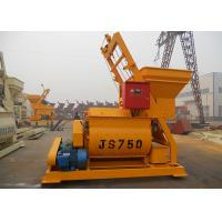 750L Compact Structure Twin Shaft Concrete Mixer With Bucket Heavy Duty Manufactures
