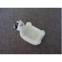 Quality Vinyl Hippo Rubber Bath Toys Plastic Soap Holder / Dish For Bathroom Decoration for sale