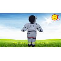 Nylon White Advertising Inflatable Space Man With CMYK Silk Printing Manufactures