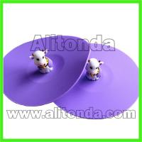 Buy cheap Custom anti-slip soft silicone cute cartoon animal figure cup lid from wholesalers