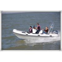 9 Person 1.2mm PVC Semi - FRP Inflatable RIB Boats With Sunshade Manufactures