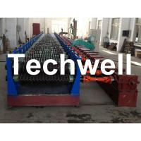 Automatic 4 - 8m/min Galvanized Steel Silo Corrugated Wall Sheet Roll Forming Machine Manufactures