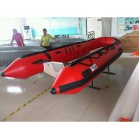Small 0.9mm PVC Rigid Hull Inflatable Boat 6 Person With Front Locker Manufactures