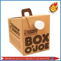 Beverage Packaging Coffee Corrugated Cardboard Paper Food Box with Handle Manufactures