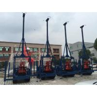 Small Diamond Drill Rig Crawler Mounted 100 Meters Seperated Water Pump Manufactures