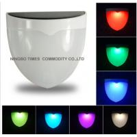 Colorful Garden Fence Solar Lights , Color Changing Outdoor Solar Wall Lights Manufactures