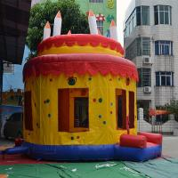 Beautiful Inflatable Birthday Cake Bouncy Castle For Children Party Manufactures