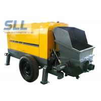 Large Capacity Mobile Cement Mortar Pump Long Service Life 12 Months Warranty Manufactures