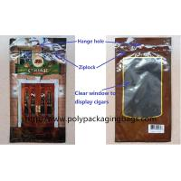 Customized Printed Cigar Packaging Wrap Bags , Mylar Packaging Bags With Ziplock Manufactures