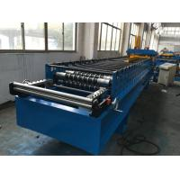 7.5kw Corrugated Sheet Metal Roll Forming Machine With Electrical Decoiler Manufactures
