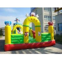 Fireproof Tarpaulin Green Inflatable Funny Castles For Kids 12 x 10m Manufactures