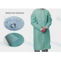 China High Performance Disposable Standard Surgical Gown Wood Pulp Spunlace With 4 Waist Belts on sale