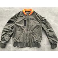Fatigue Light Weight Trenchcoat Men spring sport jacket With Contrast Rib Collar And Plastic Zip Manufactures