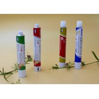 Round Aluminum Collapsible Tubes ,  Recyclable Toothpaste Tube Packaging Manufactures