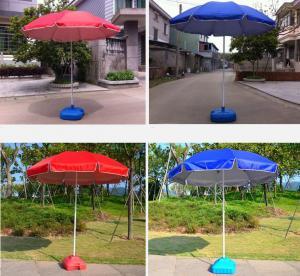 Customized Logo Silk Screen Promo Beach Umbrella Durable Frame And Fabric Umbrella Manufactures