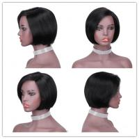 Straight Glueless For Black Hand Weaving Front Lace Bobo Head Wig Human Hair Headgear 130% Density Manufactures