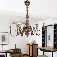 Buy cheap Wood frame Iron chandelier for indoor home lighting fixtures (WH-CI-62) from wholesalers