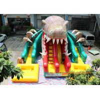 Dinosaur Water Park Commercial Inflatable Slide With Pool 6 * 4.5 * 5m Manufactures