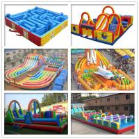Adults / Children Play Inflatable Sports Games 0.55mm Pvc Tarpaulin Colorful Manufactures