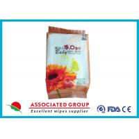 White Color Baby Wipes Alcohol Free With Standard Disposable Spunlace Nonwoven Manufactures