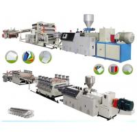 PVC Sheet Board Plastic Extrusion Machine Advertising Materials 1220mm Width Manufactures