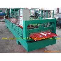 High Speed Glazed Tile Cold Roll Forming Machine 0 - 20 m/min Red Roofing Panel or Customized Manufactures