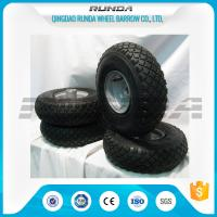 Small Size Pneumatic Rubber Wheels , Pneumatic Swivel Caster Wheels136KG In 2PR Manufactures