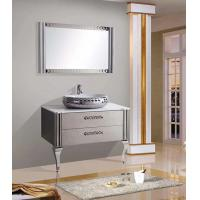 Oval Single Basin Stainless Steel Illuminated Bathroom Cabinets White Finish Manufactures