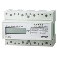 Three Phase Four Wires Din Rail Watt Hour Meter , Electronic KWH Meter Manufactures