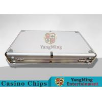 Aluminum Carrying Case For Casino Poker Chip Set  Metal Poker Chip Box For 600pcs Manufactures