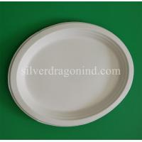 Biodegradable Disposable Sugarcane Pulp Paper Plate, Oval Plate Manufactures