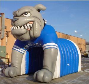 inflatable tiger football helmet tunnel inflatable football helmet Manufactures