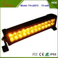 Amber and White Color 13.5 inch Epistar LED Strobe Light Bar 72W Flash Lamp for Sale Manufactures